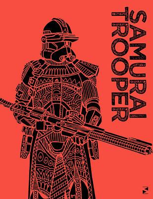 Scifi Mixed Media - Stormtrooper - Red - Star Wars Art by Studio Grafiikka