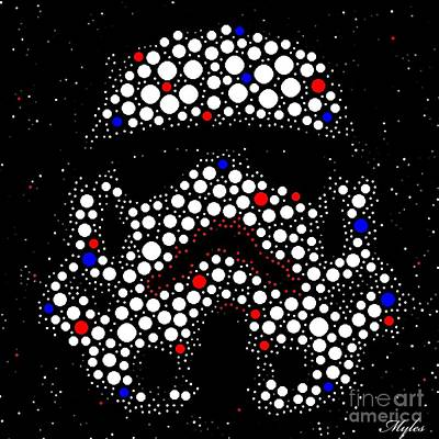 Digital Art - Star Wars Stormtrooper by Saundra Myles