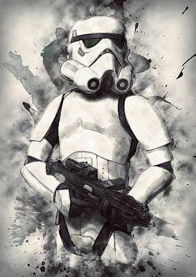 Character Portraits Digital Art - Stormtrooper by Taylan Apukovska