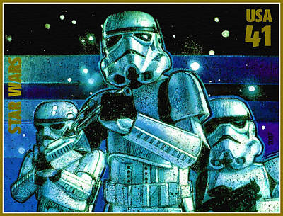 United States Postage Painting - Stormtroopers by Lanjee Chee