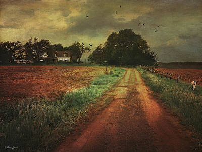 Photograph - Stormy Abandoned Farmstead by Anna Louise