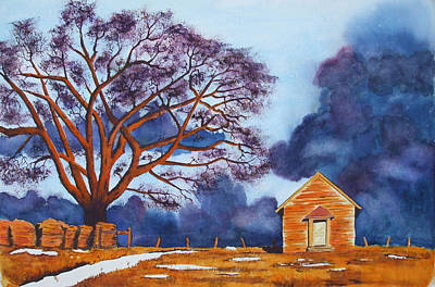 Storm Clouds Painting - Stormy Afternoon by Ally Benbrook