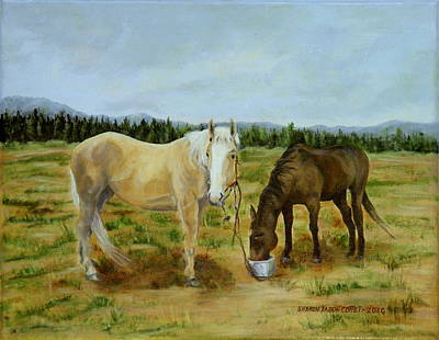 Painting - Stormy And Friend On The Ranch by Sharon Tabor