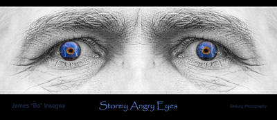 Photograph - Stormy Angry Eyes Poster Print by James BO  Insogna