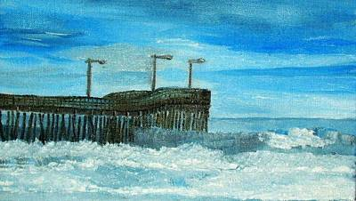 Painting - Stormy At Morro Bay by Leslye Miller