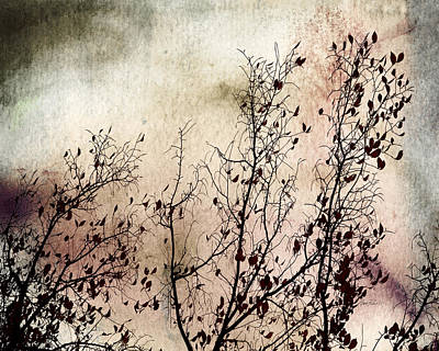 Digital Art - Stormy Autumn - Nature Art by Ann Powell