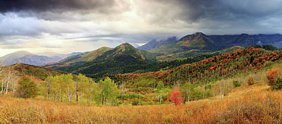 Photograph - Stormy Autumn Panorama by Johnny Adolphson