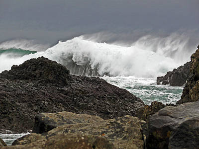 Photograph - Stormy Ballintoy by Colin Clarke