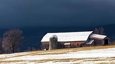 Photograph - Stormy Barn Landscape by Alan L Graham