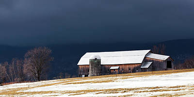 Photograph - Stormy Barn Panorama by Alan L Graham