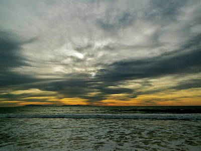 Photograph - Stormy Beach Clouds by Liz Vernand