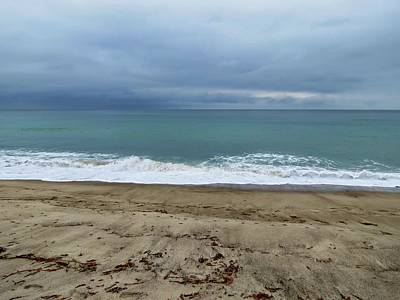 San Clemente Ca Photograph - Stormy Beach by Connor Beekman