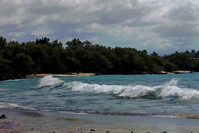 Beach Landscape Mixed Media - Stormy Beach Day by Pamela Walton