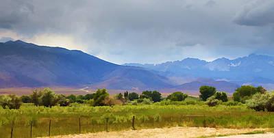 Landscape Photograph - Stormy California Mountains by Ricky Barnard