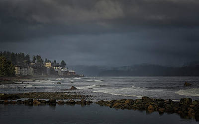 Photograph - Stormy Campbell River by Randy Hall