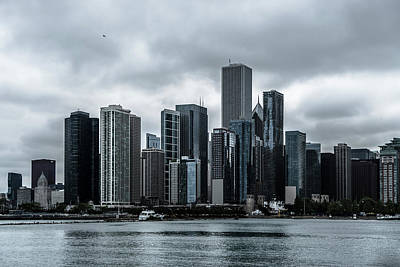 Photograph - Stormy Chicago  by Ryan Heffron
