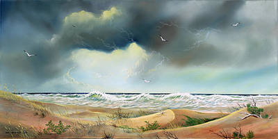 Stormy Coast Original by Don Griffiths