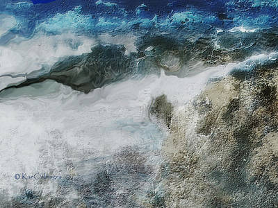 Digital Art - Stormy Coastline by Kae Cheatham