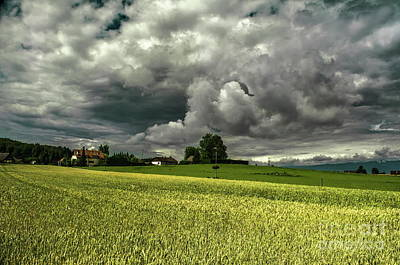 Photograph - Stormy Countryside by Michelle Meenawong
