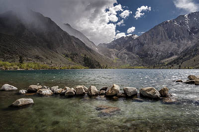 Stormy Day At Convict Lake Art Print by Cat Connor