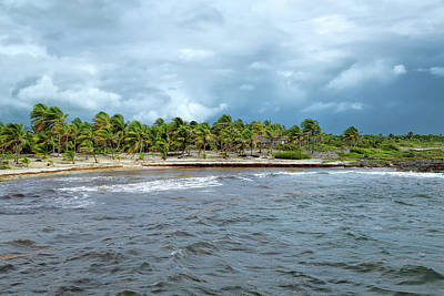 Photograph - Stormy Day At Costa Maya by John M Bailey