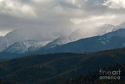 Steven Krull Royalty-Free and Rights-Managed Images - Stormy Day on Pikes Peak by Steven Krull