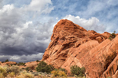 Photograph - Stormy Desert Afternoon by Kathleen Bishop