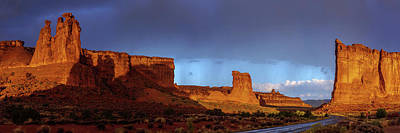 Arches National Park Photograph - Stormy Desert by Chad Dutson