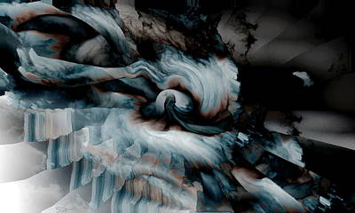 New Mind Digital Art - Stormy Emotions by Abstract Angel Artist Stephen K