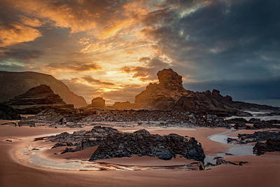 Photograph - Stormy Evening On Praia Do Castelejo by Dmytro Korol
