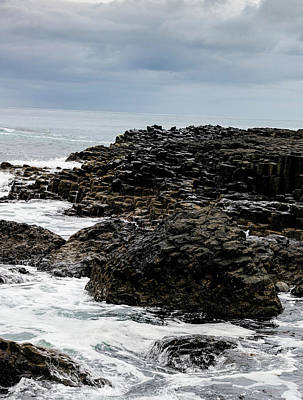 Photograph - Stormy Giant's Causeway by Elvis Vaughn