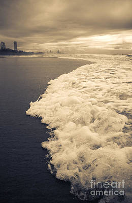 Stormy Gold Coast Beachfront Art Print