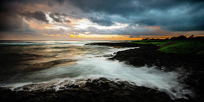 Photograph - Stormy Hawaiian Sunset by Mark Robert Rogers