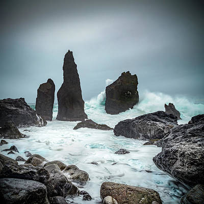 Photograph - Stormy Iclandic Seas by Andy Astbury