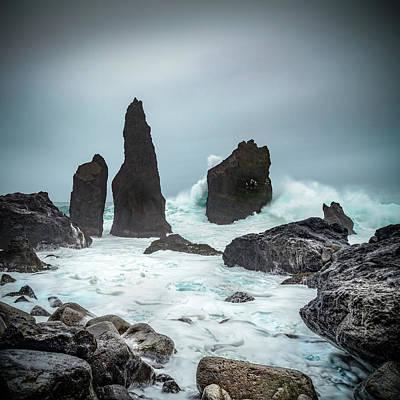 Photograph - Stormy Iclandic Seas by Andy Astbury