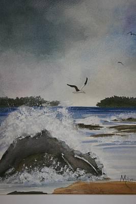 Stormy Inlet Art Print