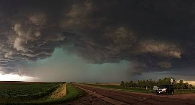 Photograph - Stormy Intersection by Ed Sweeney