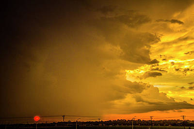 Photograph - Stormy July Nebraska Sunset 002 by NebraskaSC