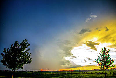 Photograph - Stormy July Nebraska Sunset 003 by NebraskaSC