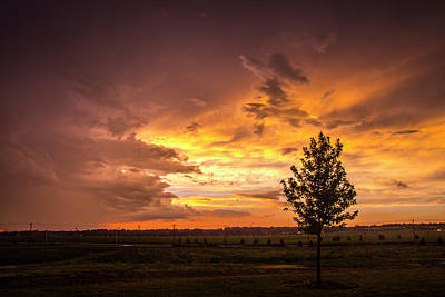 Photograph - Stormy July Nebraska Sunset 006 by NebraskaSC