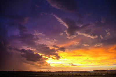 Photograph - Stormy July Nebraska Sunset 010 by NebraskaSC