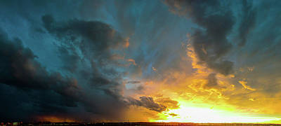 Photograph - Stormy July Nebraska Sunset 011 by NebraskaSC