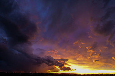 Photograph - Stormy July Nebraska Sunset 013 by NebraskaSC