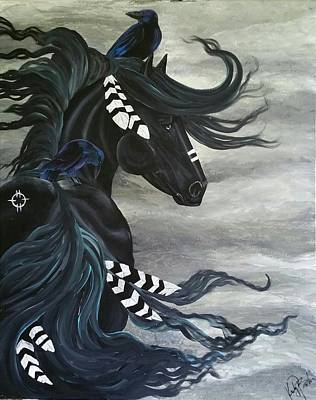 Horse Painting - Stormy by Kimberly Faith art