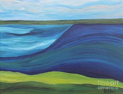 Painting - Stormy Lake by Annette M Stevenson