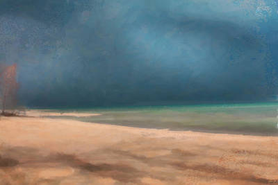 Stormy Lake Huron 2 Art Print by Chamira Young
