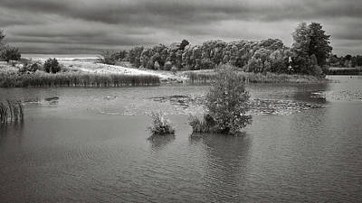 Stormy Lake. Malyi Lystven, 2013. Art Print