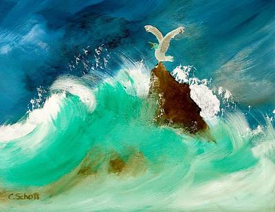 Painting - Stormy Landing by Christina Schott