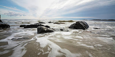 Photograph - Stormy Maine Morning #3 by Natalie Rotman Cote