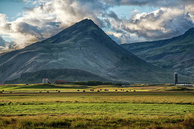 Photograph - Stormy Majestic Iceland Mountain At Sunset by Dave Dilli